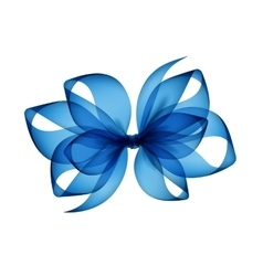Light blue transparent bow top view isolated vector