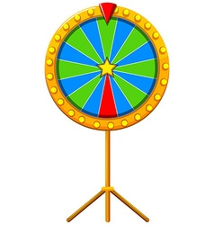 Lucky wheel with blue and green striped vector