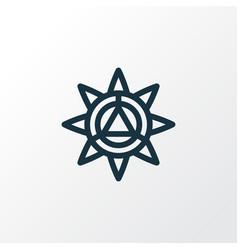mandala design icon line symbol premium quality vector image