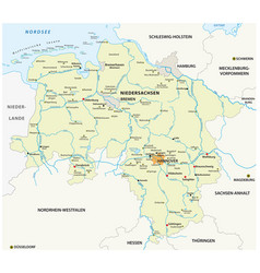 map state lower saxony germany vector image