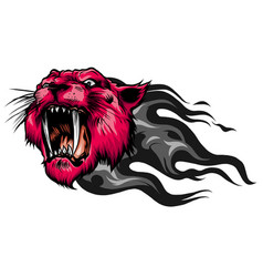 Mascot image a tiger head with whiskers vector