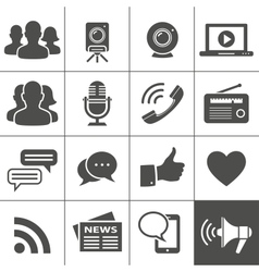 Media Social Network Icons vector