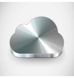 Metal cloud icon vector