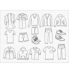 MInimalistic Men clothes and shoes vector