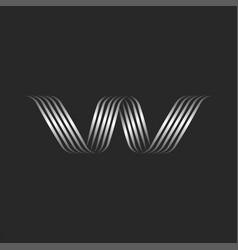 monogram letter w initial logo calligraphic vector image