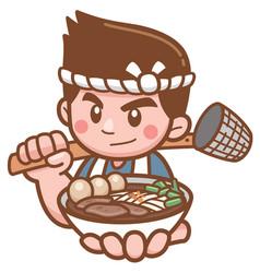 noodles chef vector image