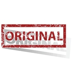 ORIGINAL outlined stamp vector