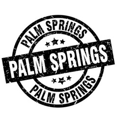Palm springs black round grunge stamp vector