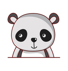 panda animal cartoon isolated icon design vector image