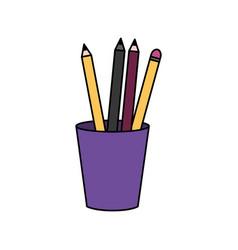 Pencils inside mug design vector
