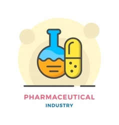 Pharmaceutical industry concept vector image