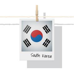 Photo of south korea flag on white background vector