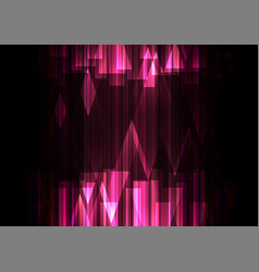 Pink crystal line dark abstract background vector