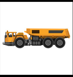 Powerful articulated dump truck vector