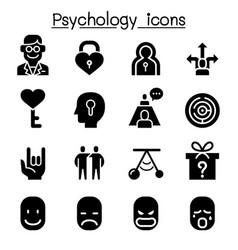 psychology icon set vector image