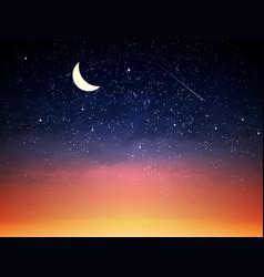 Purple sky in twilight dark night vector