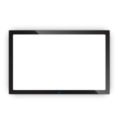 realistic tv screen icon in flat style monitor vector image