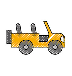Safari jeep isolated icon vector