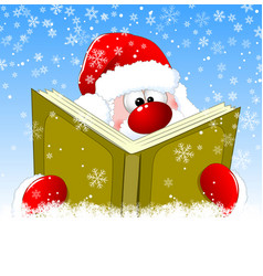 Santa is reading a book vector