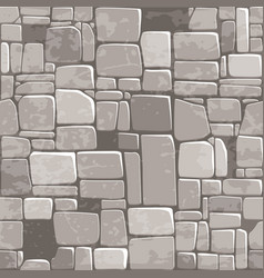 Seamless background texture grey stone wall vector