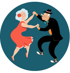 senior citizens dancing latin vector image