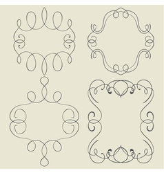 Set Frames Hand drawing vector