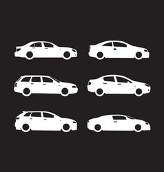 set of modern shapes and icons of cars vector image