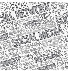 Social Media Words Seamless Pattern vector image