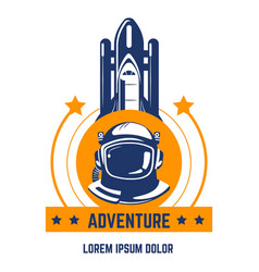Space adventure isolated icon spaceman and vector