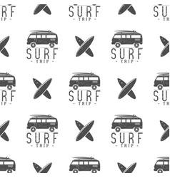 surfing trip pattern design summer seamless vector image