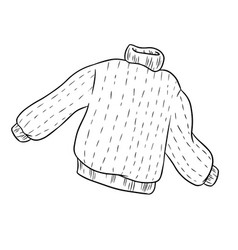 Sweater coloring outline template vector