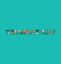 Therapist concept word art vector