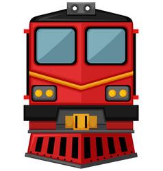 Train design in red color vector