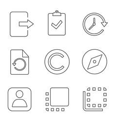 uiux linear icons set vector image