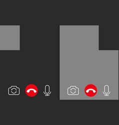 video call background with place for photo vector image