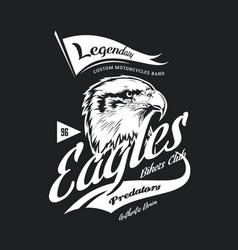 vintage american furious eagle custom bikes vector image