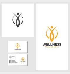 Wellness icon design template vector
