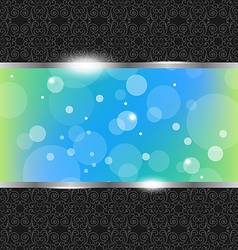 Abstract Floral Banner Background vector image vector image