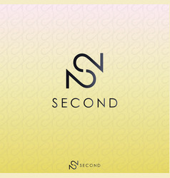 black letter s and double number 2 logo concept vector image