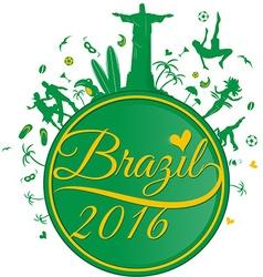 brazil symbol background vector image