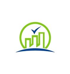 building city factory green logo vector image vector image