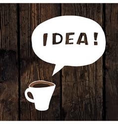 coffee idea concept vector image vector image