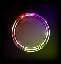colorful circles banner abstract background vector image vector image