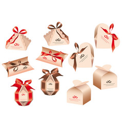 Packing for a gift of chocolates on valentines vector
