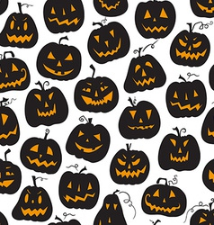 pattern with pumpkins Halloween holiday seamless vector image