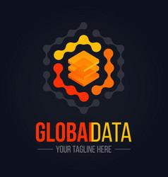 technology data server logo vector image
