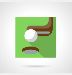 golf flat color icon vector image