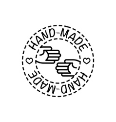 handcrafted hand-made badge vector image