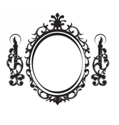 Vintage Frame with lamps vector image vector image