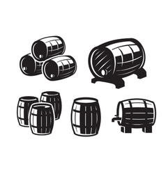 black barrels icons vector image vector image